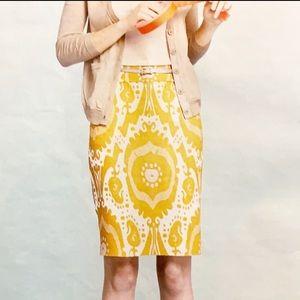J.Crew Ikat 100% Linen skirt Size 2
